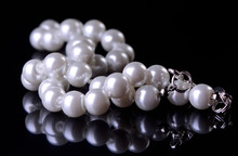 Pearls On A Black Background
