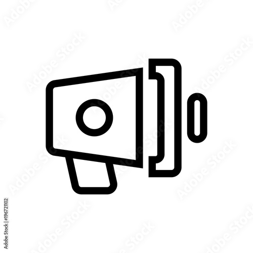 Loud Speaker Outlined Vector Icon Outlined Symbol Of Megaphone
