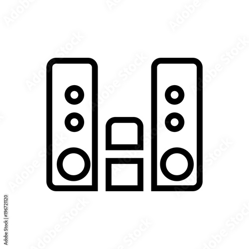 audio player outlined vector icon  Outlined symbol of music