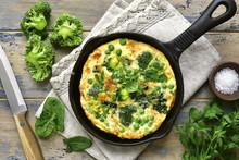 Spring Omelette With Green Veg...