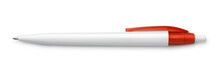 Top View Of Blank White Pen