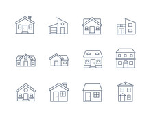 House Line Icon Vector / Home ...