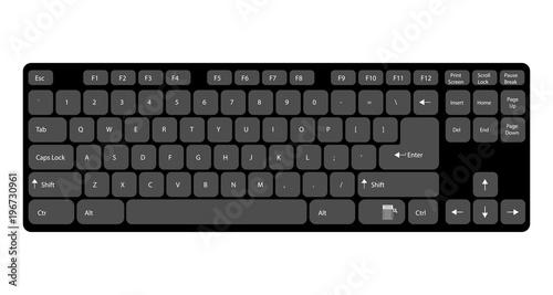 Fotografía  computer keyboard with signed keys