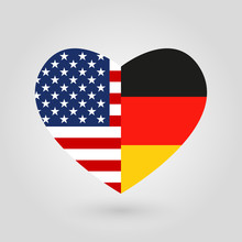 US And Germany Flags Icon In T...