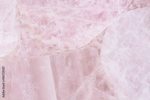 Ingelijste posters Marmer Gentle light quartz texture with clean smooth surface.