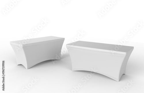 Blank Exhibition advertising table cloth used Dining Spandex Table Cover Fototapeta