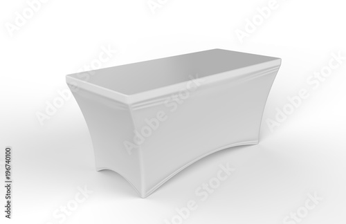 Blank Exhibition advertising table cloth used Dining Spandex Table Cover Fototapet