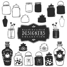 Vintage Decorative Jars With H...