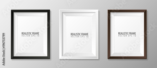 Set pf Realistic frames for your presentations Wallpaper Mural