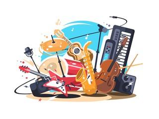 Glazbeni instrumenti na sceni