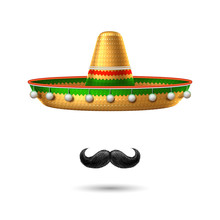 Vector Sombrero Mexican Hat Mu...