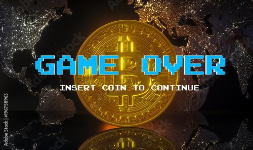 Fotografie, Obraz  Cryptocurrency  Bitcoin
