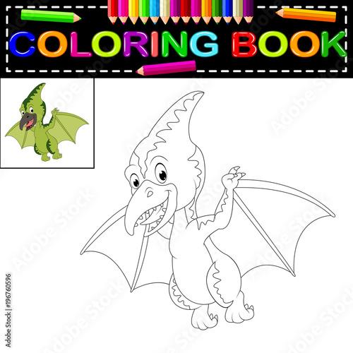 dinosaur coloring book Canvas Print