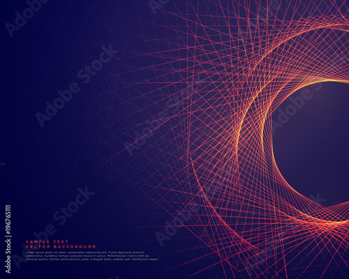 Fotografía  abstract lines forming tunner shape background