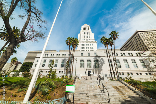 Photo Front view of Los Angeles city hall