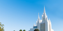 Blue Sky Over Mormon Temple In San Diego