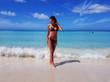 girl on the beach in a bikini, the Caribbean, Jamaica