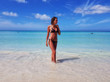 girl on the beach in a bikini, the Caribbean, Jamaica