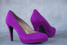Fuchsia Velvet  Shoes Heels On...