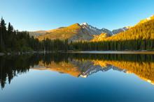 Bear Lake With Mountains Refle...
