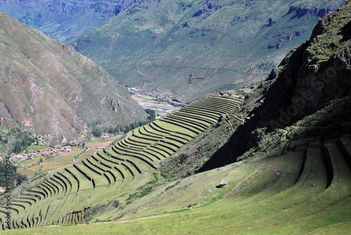 Foto op Plexiglas Olijf Landscape in Pisac, Peru