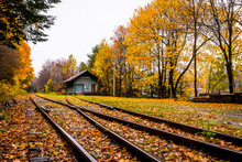 Railway Track In Catskills