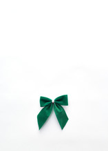 Single Green Velvet Bow