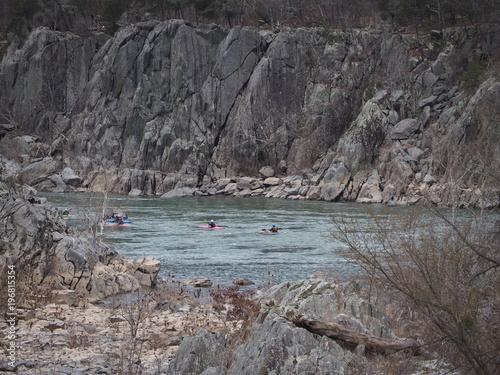 Fotografie, Obraz  kayakers along Potomac river