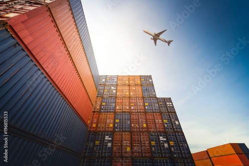 Industrial Container yard for Logistic Import Export business.