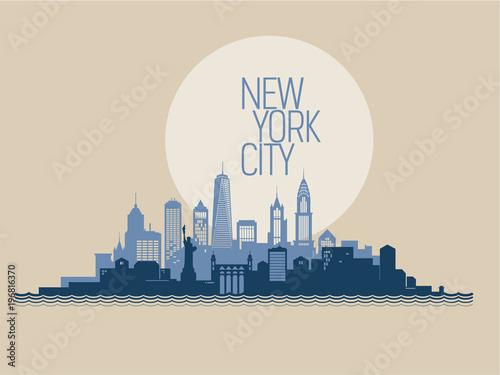 Gród w Nowym Jorku. Ilustracji wektorowych