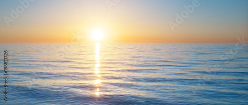Obraz Sundown on the sea. Nature relax composition. - fototapety do salonu
