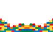 canvas print picture - Plastic building blocks