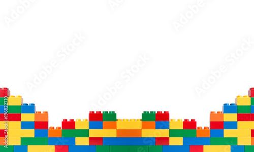 Photographie  Plastic building blocks