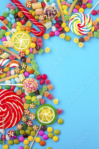 Poster Confiserie Colorful candies
