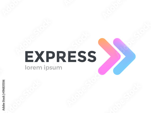 Transport logistic logo of express arrow moving forward for courier delivery or transportation and shipping service Wallpaper Mural