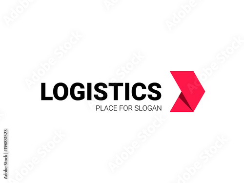 Fotografía  Transport logistic logo of express arrow moving forward for courier delivery or transportation and shipping service