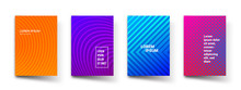 Abstract Pattern Gradient Background Templates. Vector Modern Geometric Design With Abstract Minimal Gradient Line Shapes Effect For Brochure Cover, Template Presentation Or Flyer