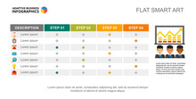 Four Step Creative Chart Slide...