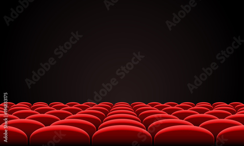 Movie Citema Seat Hall Interior Vector Theatre Red Seat Chair In