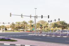 Traffic Lights At The Crossroa...