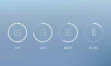 Vector Countdown Circle Clock ...