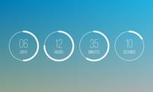 Vector Countdown Clock Counter...