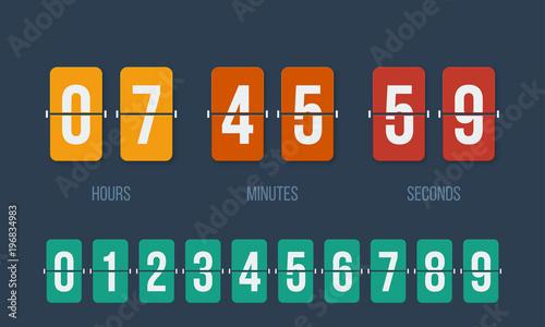 Cuadros en Lienzo Flip countdown clock counter timer