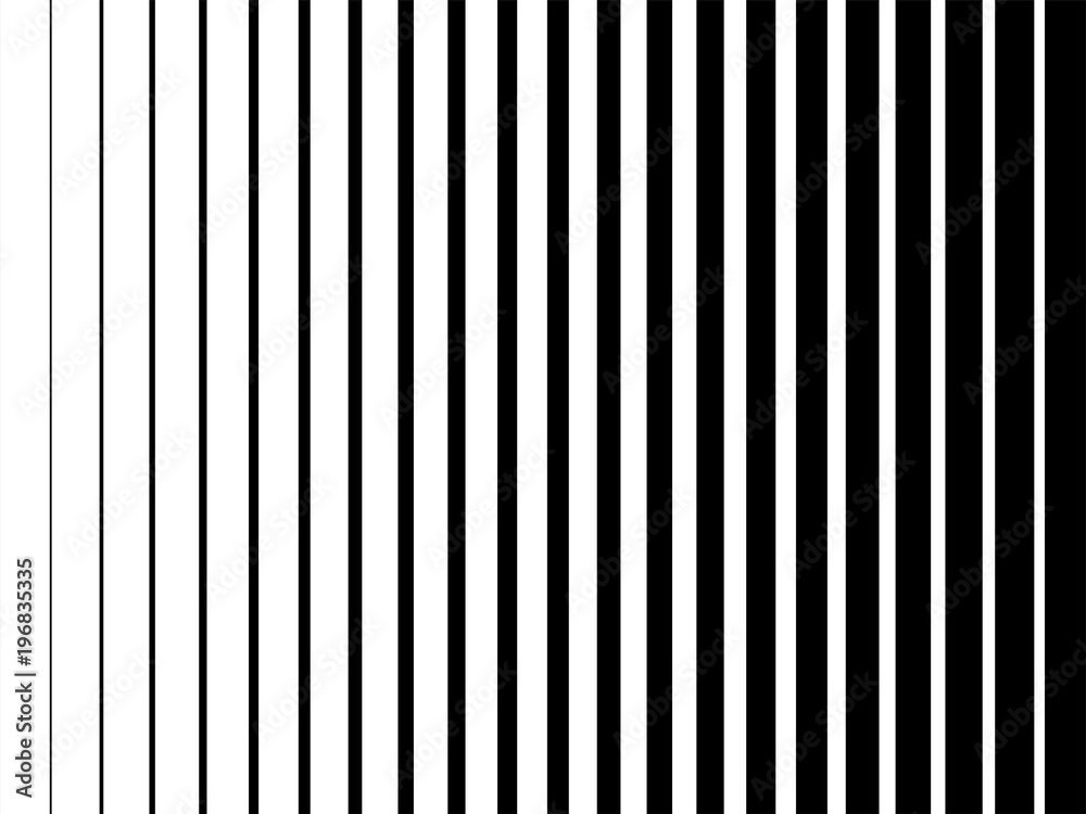 Fototapeta Line halftone pattern texture. Vector black and white radial striped gradient background for retro, vintage wallpaper graphic effect. Monochrome pop art stripe overlay for poster illustration