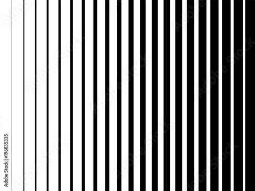 Line halftone pattern texture. Vector black and white radial striped gradient background for retro, vintage wallpaper graphic effect. Monochrome pop art stripe overlay for poster illustration