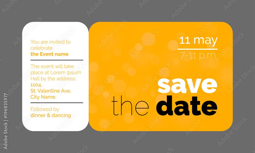 Plakat Save The Date Wedding Celebration Invitation Card