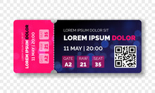 Ticket Template Modern Trendy ...
