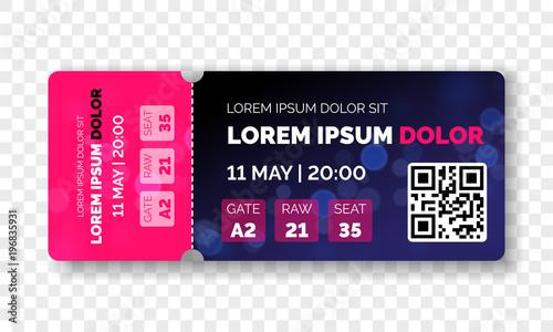 ticket template modern trendy design vector admit ticket with event
