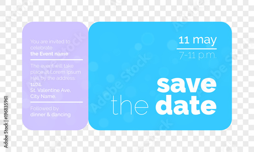 Save The Date Wedding Invitation Card Creative Ticket Design