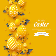 Easter Holiday Greeting Card. ...